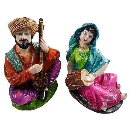 Amazon com: Handmade Decorated Showpiece Indian Villager Women & Men