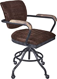 Armen Living Brice Office Chair, Industrial Gray