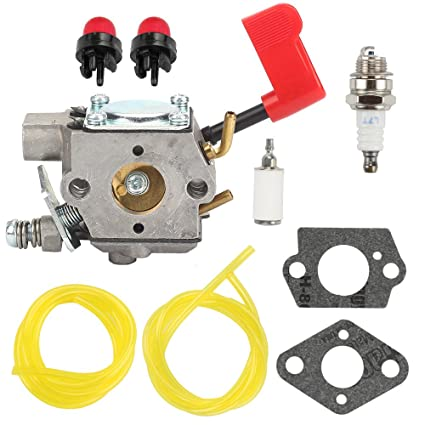 Butom WT-628 Carburetor with Fuel Line Repower Kit for Poulan PPB100 PPB200  PPB300 SM132 PPB350 PP031 PP033 PP035 PP036 PP131 PP135 PP136 PP336 PP445