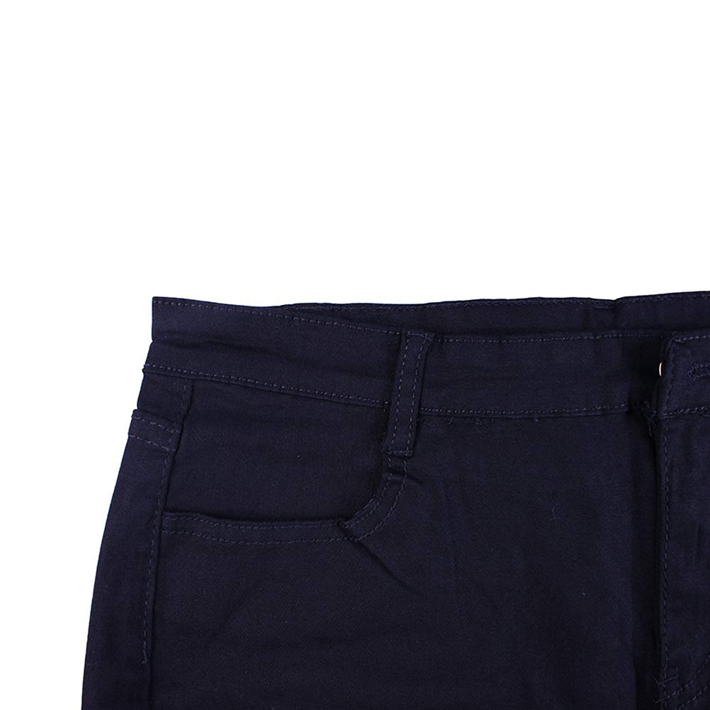 Rela Bota High Waist Butt Lifting Push Up Ripped Distressed Denim Shorts Large Black by Rela Bota (Image #4)