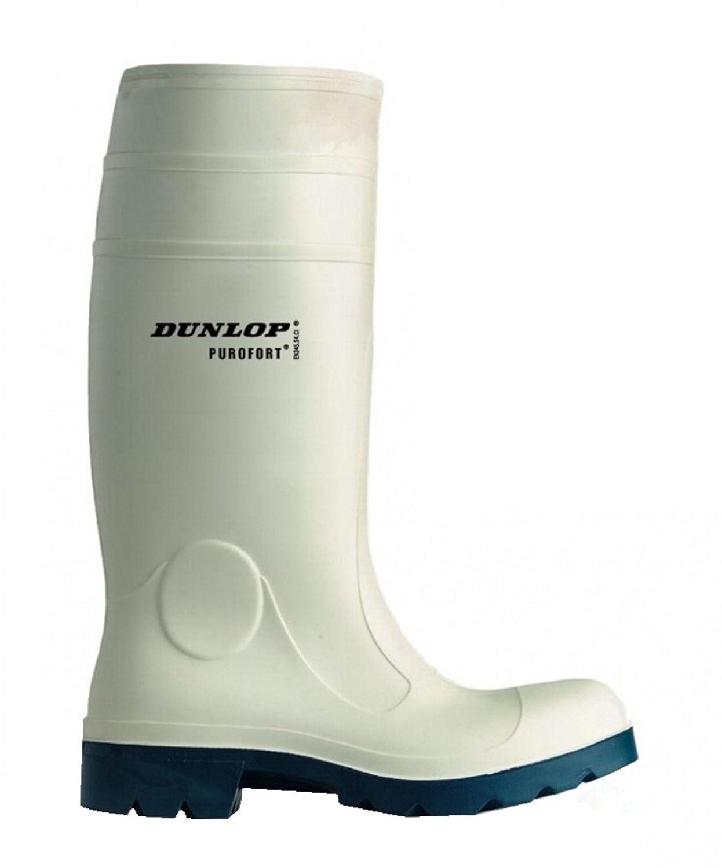 Dunlop FoodPro Purofort Gummie- Arbeits- Metzgerstiefel weiß mit Stahlkappe