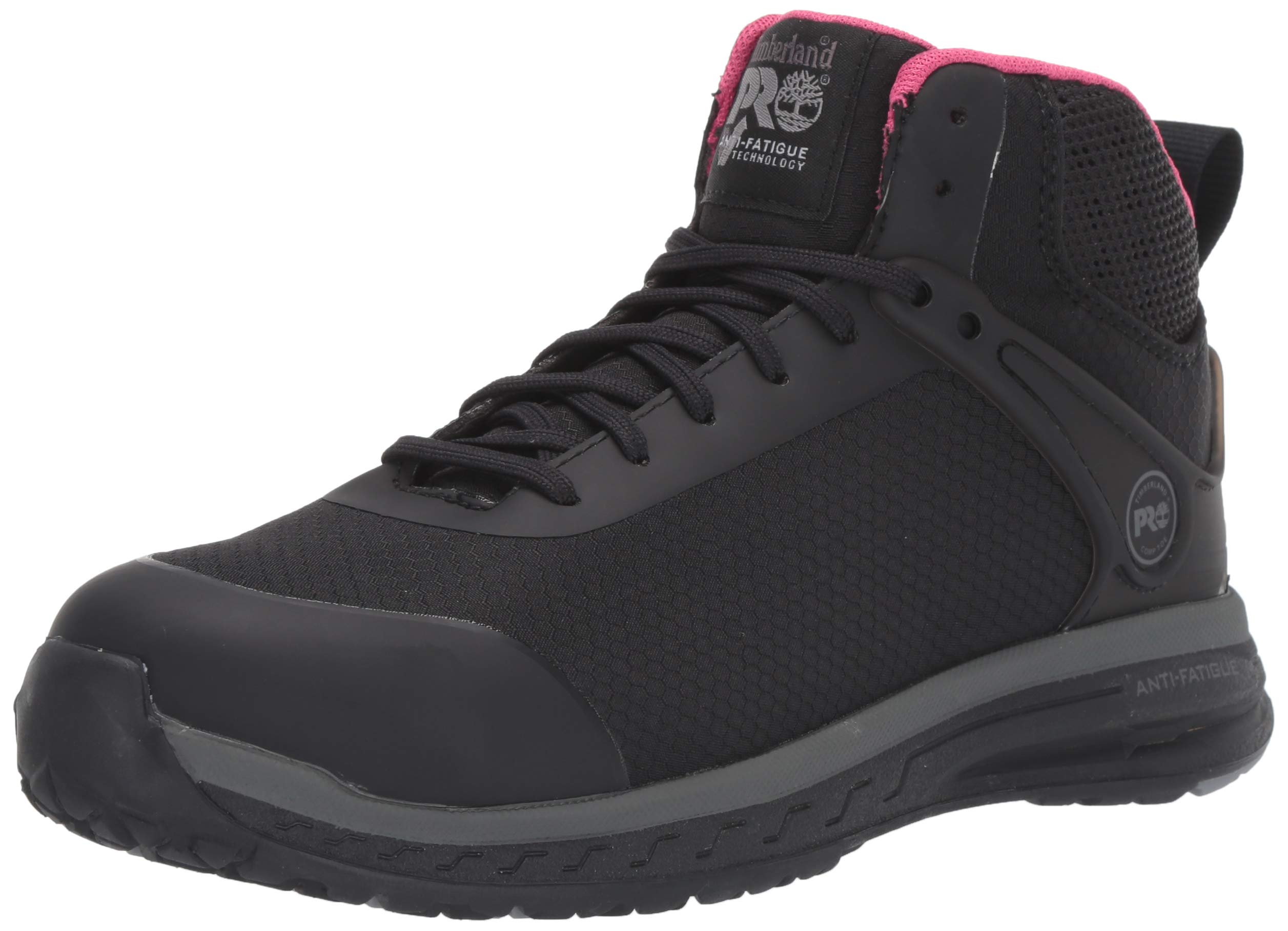 Timberland PRO Women's Drivetrain Mid Composite Toe SD35 Industrial Boot, Black, 8 M US by Timberland PRO