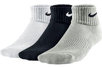 Nike One-Quarter Socks 3P YTH CTN Cush QTR W Moist M Calcetines, Unisex: Amazon.es: Deportes y aire libre