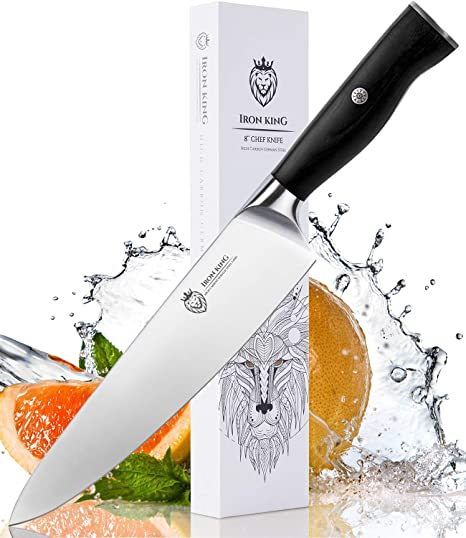 amazon com chef knife high carbon steel sharp kitchen knife with rh amazon com
