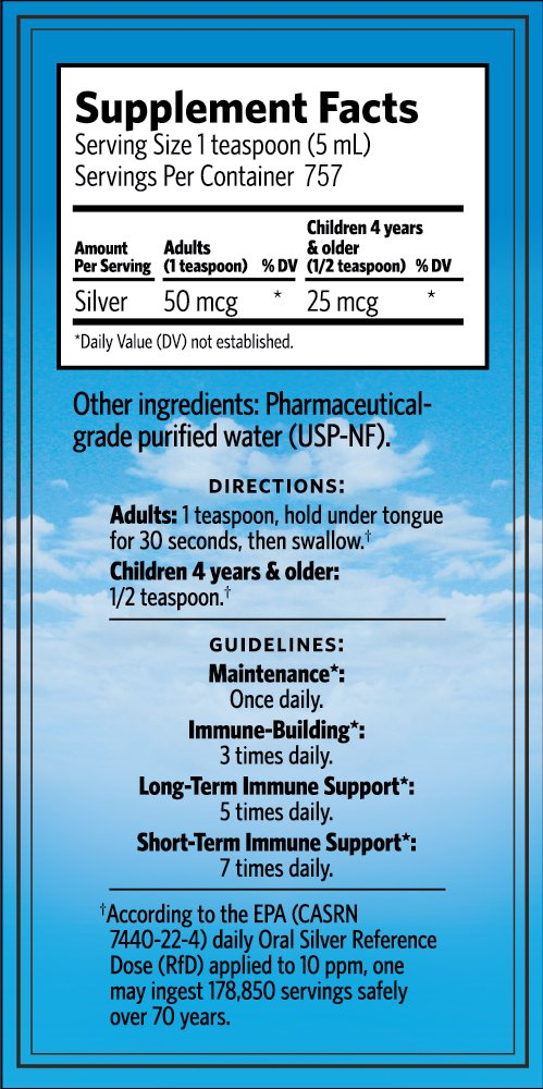 Sovereign Silver® Bio-Active Silver Hydrosol™ for Immune Support* - 1 Gallon – The Ultimate Refinement of Colloidal Silver - Safe*, Pure and Effective* - Premium Silver Supplement - Family Size by Sovereign Silver (Image #4)