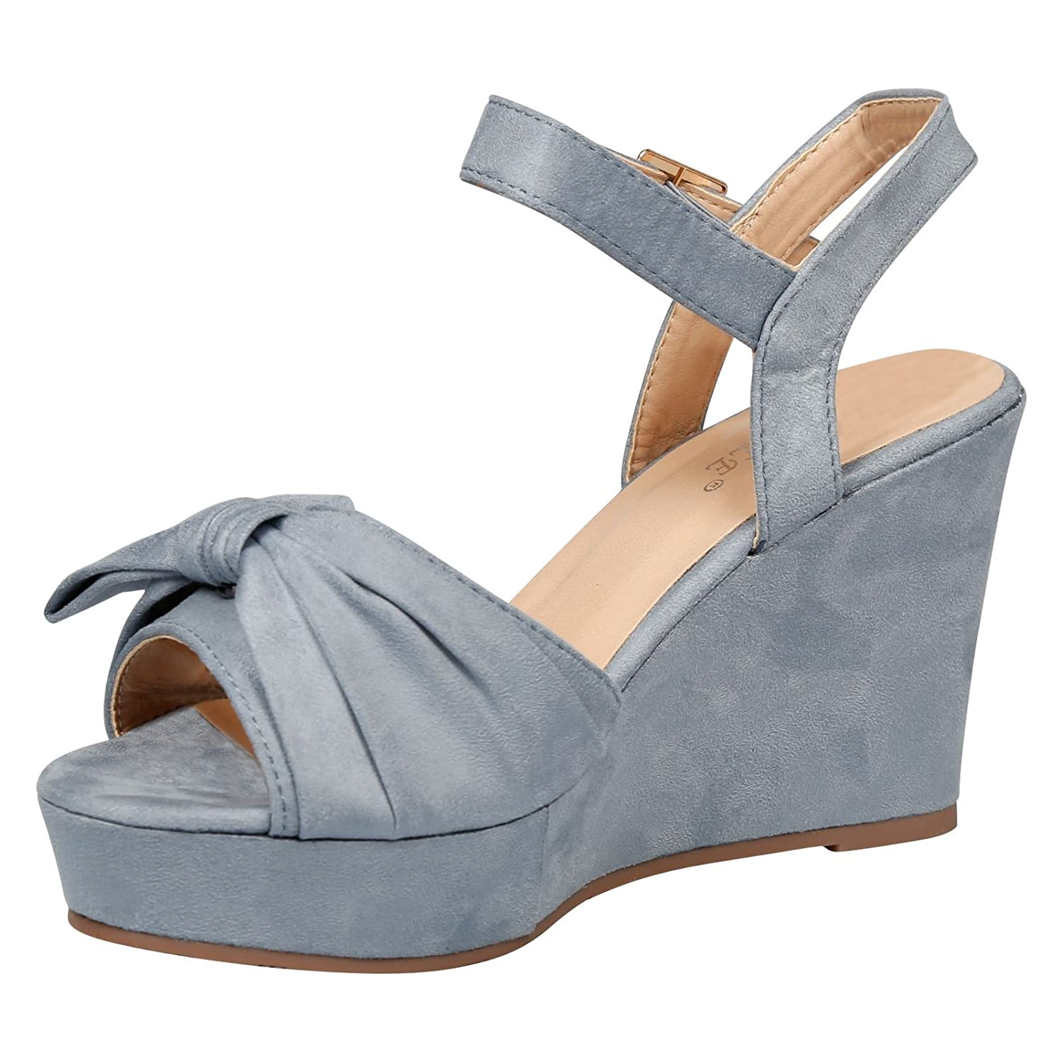 2f9ad5e5db39 Feet First Fashion Elora Ladies Shoes High Wedges Heels Platforms Womens  Fashion Sandals Shoes Size  Amazon.co.uk  Shoes   Bags
