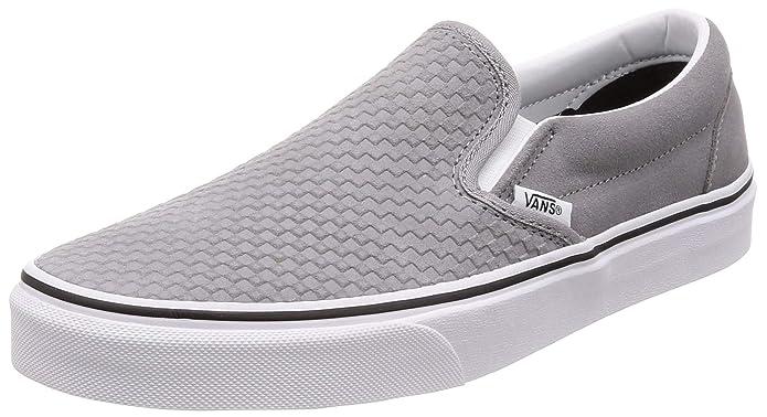 Vans Classic Slip On Sneaker Damen Herren Kinder Unisex Grau (Frost Grey)