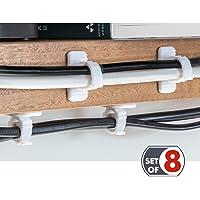 Tatkraft Jaw - Zelfklevende kabel organizer clips. Set van 8 stuks