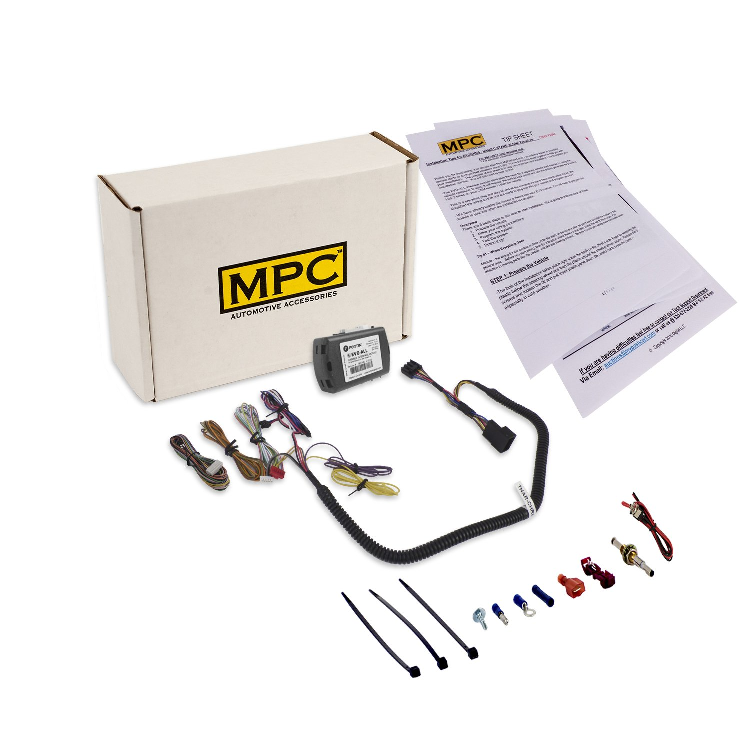 MPC Plug and Play Remote Start for 2007-2018 Jeep Wrangler. Use your SMARTPHONE or OEM Remotes to Start. Easy Install