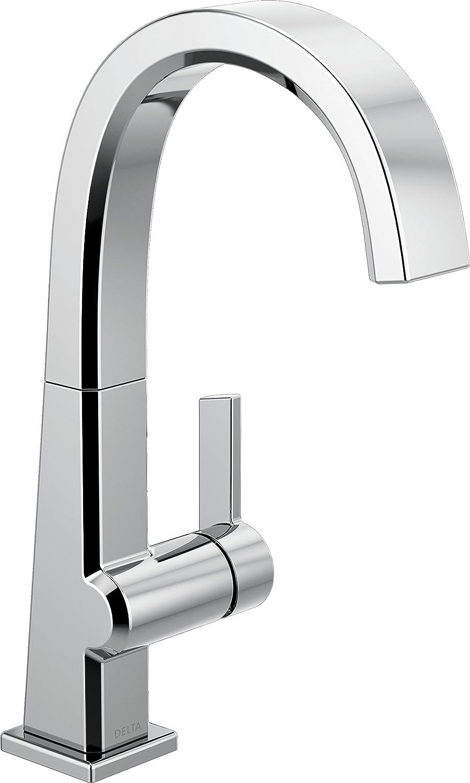 Polished Nickel 1993LF-PN Delta Faucet Pivotal Single-Handle Bar-Prep Kitchen Sink Faucet