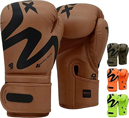 RDX Boxing Gloves Muay Thai Training Sparring Punching Fighting Kickboxing Mitts
