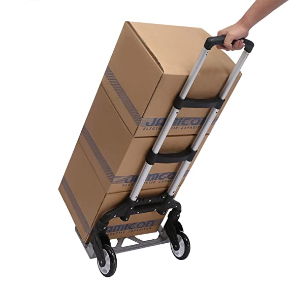 c5776a8f90cb Amazon.com: Sholdnut 150 lbs Telescoping Portable Folding Hand Truck ...