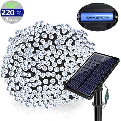 solarmks outdoor string lights solar christmas lights 77 ft 8 modes 220 led fairy lights outdoor - Solar Christmas Lights Amazon