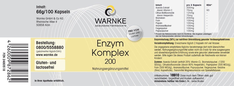 Enzimas Complex 200mg - Enzimas vegetales - con Acerola ...