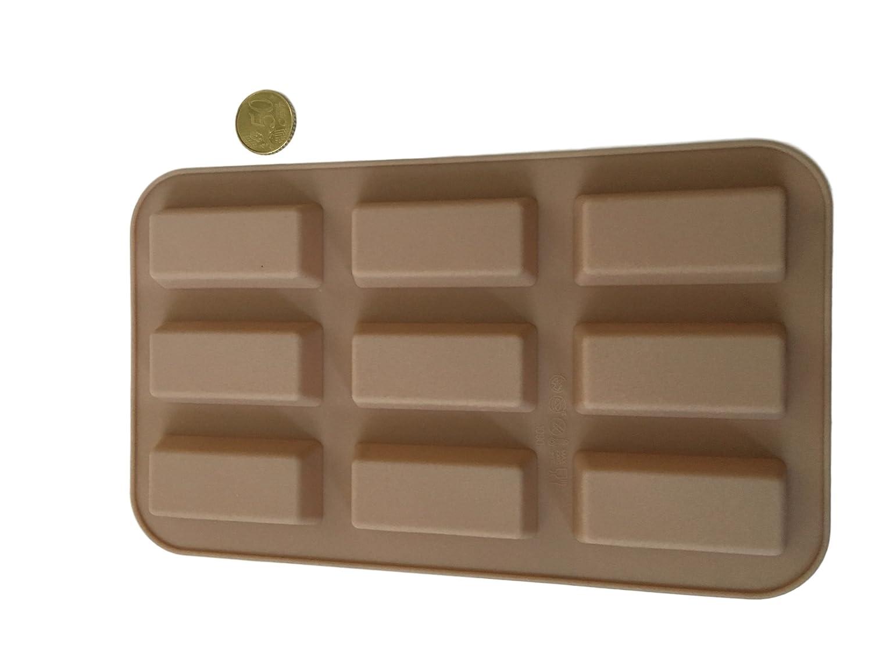 20 barritas por barras de Chocolate molde de silicona molde para bombones larga para hacer para bombones con forma de flores que molde del caramelo ...