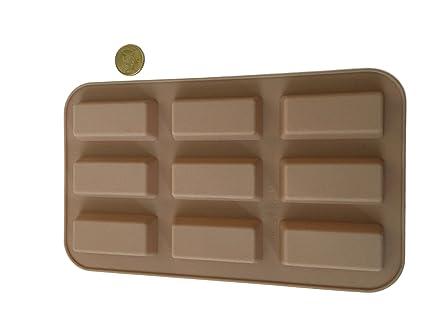 20 barritas por barras de Chocolate molde de silicona molde para bombones larga para hacer para ...