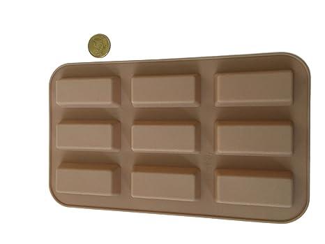 20 barritas por barras de Chocolate molde de silicona molde para bombones larga para hacer para