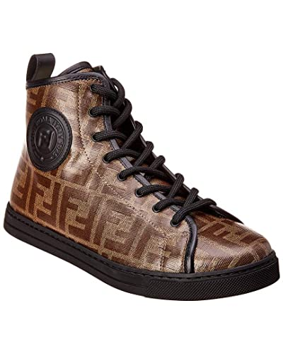 5939abe5 Amazon.com | Fendi Zucca Canvas & Leather High-Top Sneaker ...