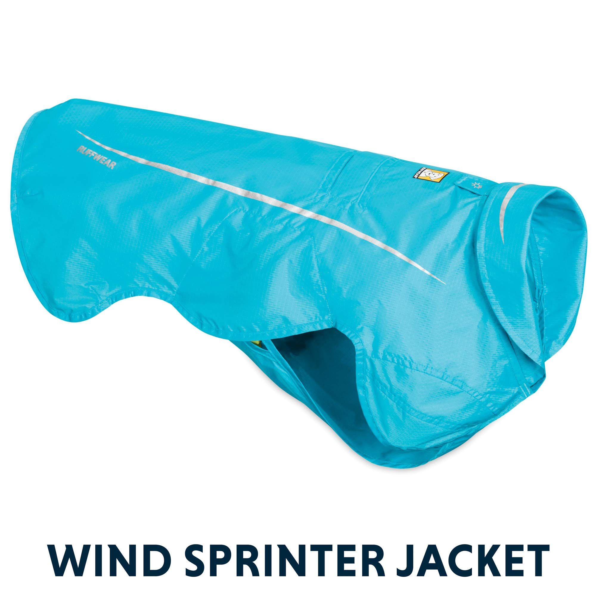 RUFFWEAR - Wind Sprinter Ultralight Wind Resistant Jacket for Dogs, Blue Atoll, X-Large