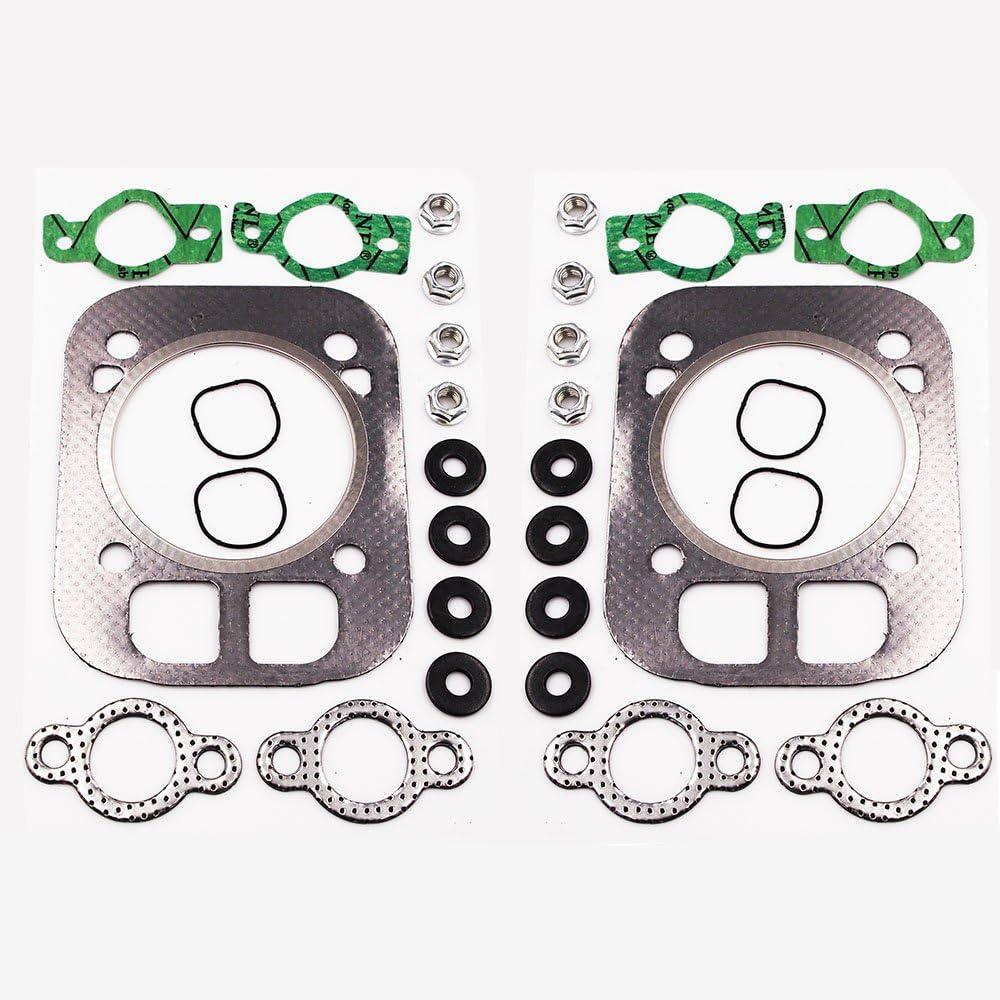 Cylinder Head Gasket Kit for Kohler 24-841-04S, 24 841 03S, 24 041 37-S, 24 041 16, 24 041 32 Kohler CH25 CH730 CH740 CV25 Engine Head Gasket Kit (2-Pack)