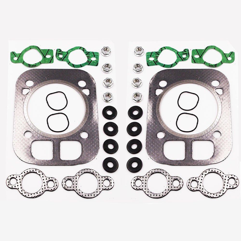 Cylinder Head Gasket Kit for Kohler 24-841-04S, 24 841 03S, 24 041 37-S, 24 041 16, 24 041 32 Kohler CH25 CH730 CH740 CV25 Engine Head Gasket Kit (2-Pack) by Anxingo