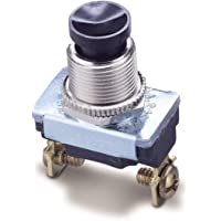 Gardner Bender GSW-22 Electrical Push Button Switch, SPST, OFF-Mom ON, 6 A/120V AC, Screw Terminal