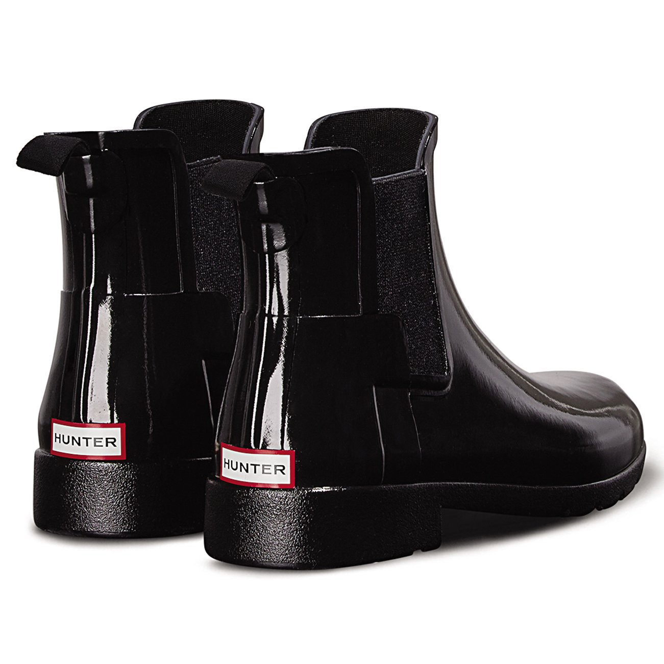 Womens Hunter Original Refined Chelsea Gloss Waterproof Wellie Ankle Boot:  Amazon.co.uk: Shoes & Bags