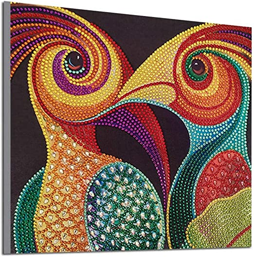 DIY Full Round Drill Diamond Rhinestone Painting Kits for Adults and Children 5D Diamond Painting Embroidery Arts,Cross Stitch Arts,Craft Home Decor Pattern 30x30cm