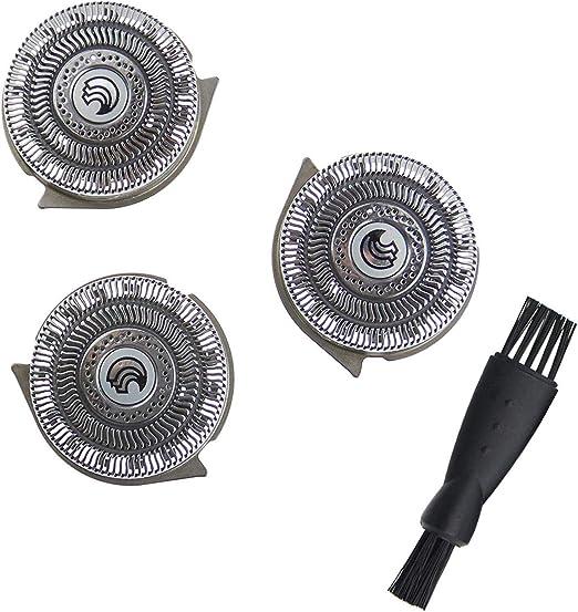 HQ9 Cabezales de Afeitado para Philips Norelco Smart Touch-XL/Speed-XL, Cuchilla de Afeitar de Repuesto Poweka para ...