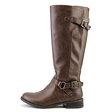 G by Guess Womens HING WIDE CALF Round Toe Knee High Riding Brown Size 6.0