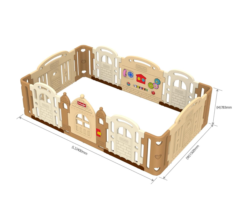 Dwinguler Laufgitter Playpen Kinderschloss Castle Caramel