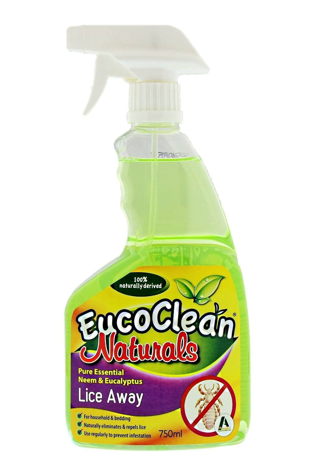 All Natural Lice Treatment Spray for Your Home by Eucoclean - Naturally Eliminates and Repels Lice - Use To Prevent Future Infestations - for Use on Backpacks, Clothing, Bedding, Furniture and More