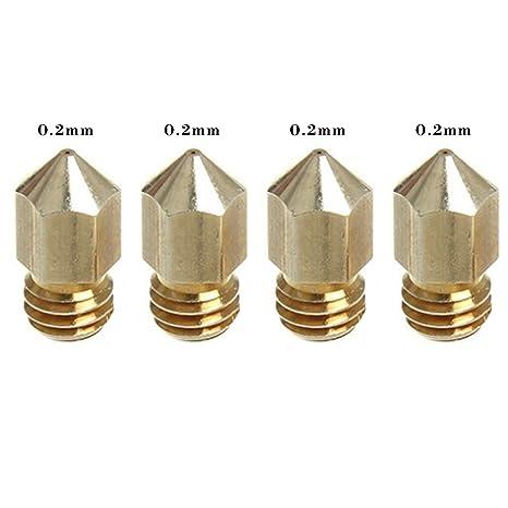 MadridGadgetStore® 4 Cabezales Boquillas 0.2 mm 0.2mm para ...