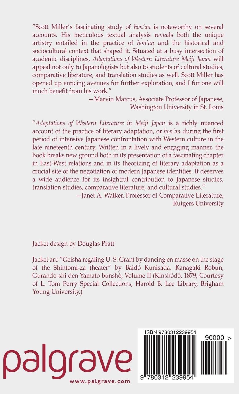 adaptations of western literature in meiji japan miller j scott