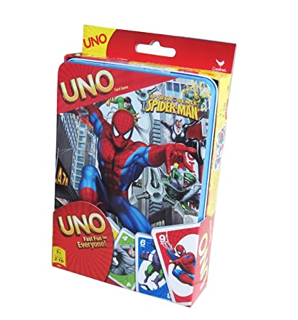 Amazon.com: Spiderman Juego de cartas UNO Estaño: Toys & Games