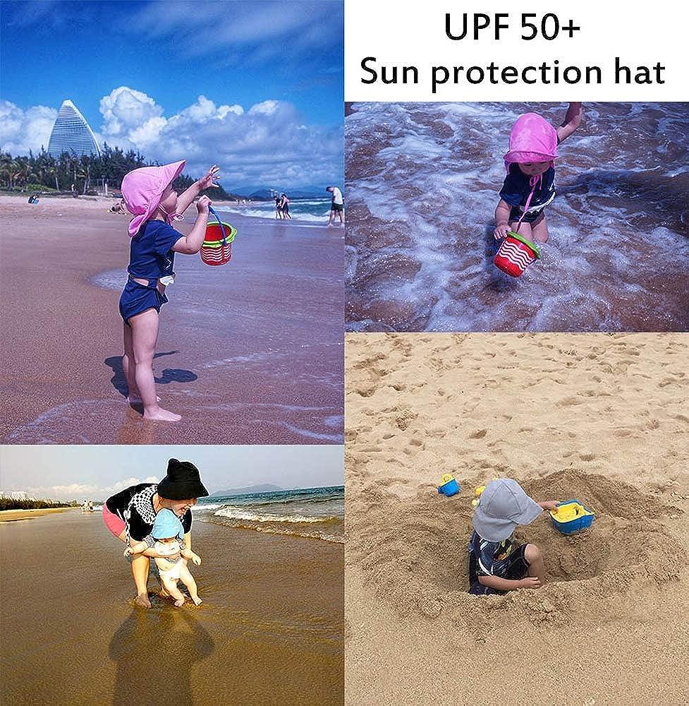 Kids Sun Hat Fisherman Cap UV Protection Painted Summer Beach Outdoor Adjustable