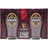 Guinness Red Collection Pint Glasses, 20 ounce, Set of 2 - Beer Glass for Bar and Kitchen