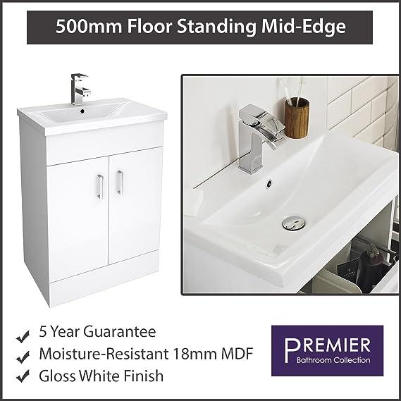 Premier Modern Bathroom Eden Mm Floor Standing Vanity Unit Mid - Premier bathroom collection