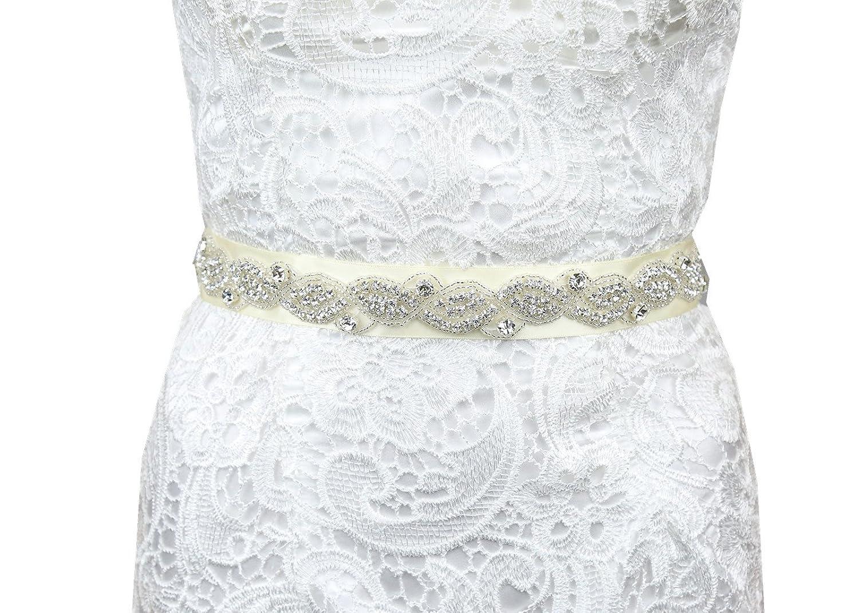 SoarDream Rhinestone Belt Sash, Rhinestone Bridal Belts, Bridal Dress Sash.
