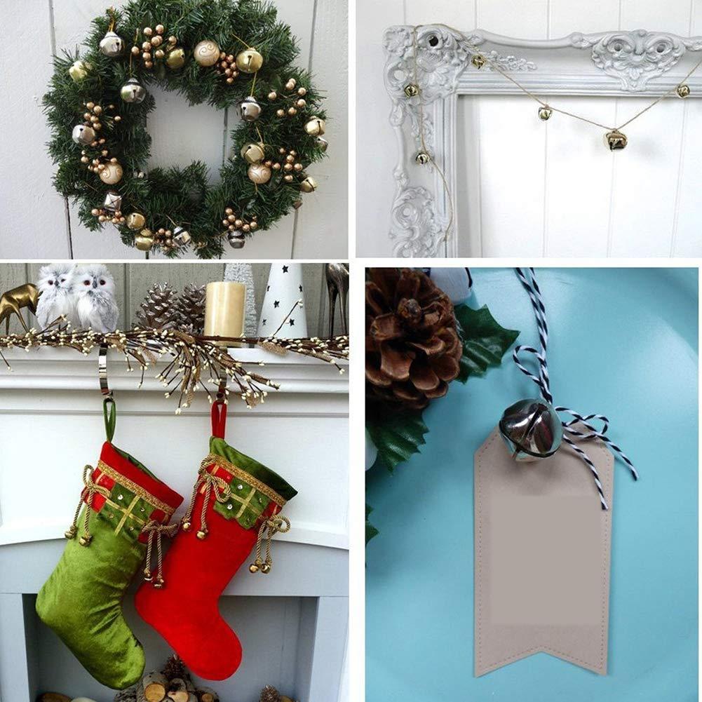 Jingle Bells No/ël Mini Bells Perles en Vrac Charms Jingle Bells pour Party Accueil D/écoration de No/ël 10 mm 100pcs Chirstmas Hanging Ornements