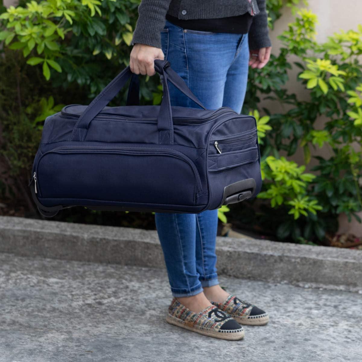 Léger Imprimé Rose Cabine De Transport En bagage à main valise trolley Sac voyage