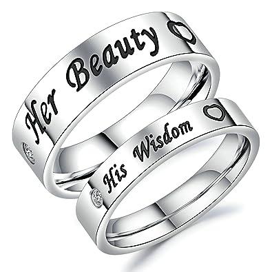 Paar ringe mit gravur silber