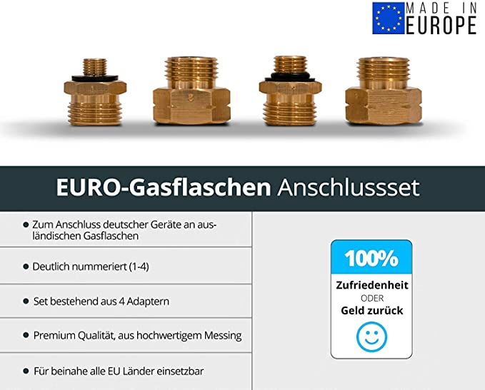 Perfect Euro Refill Propane Gas Bottles to be filled German gas cylinders D1-D4
