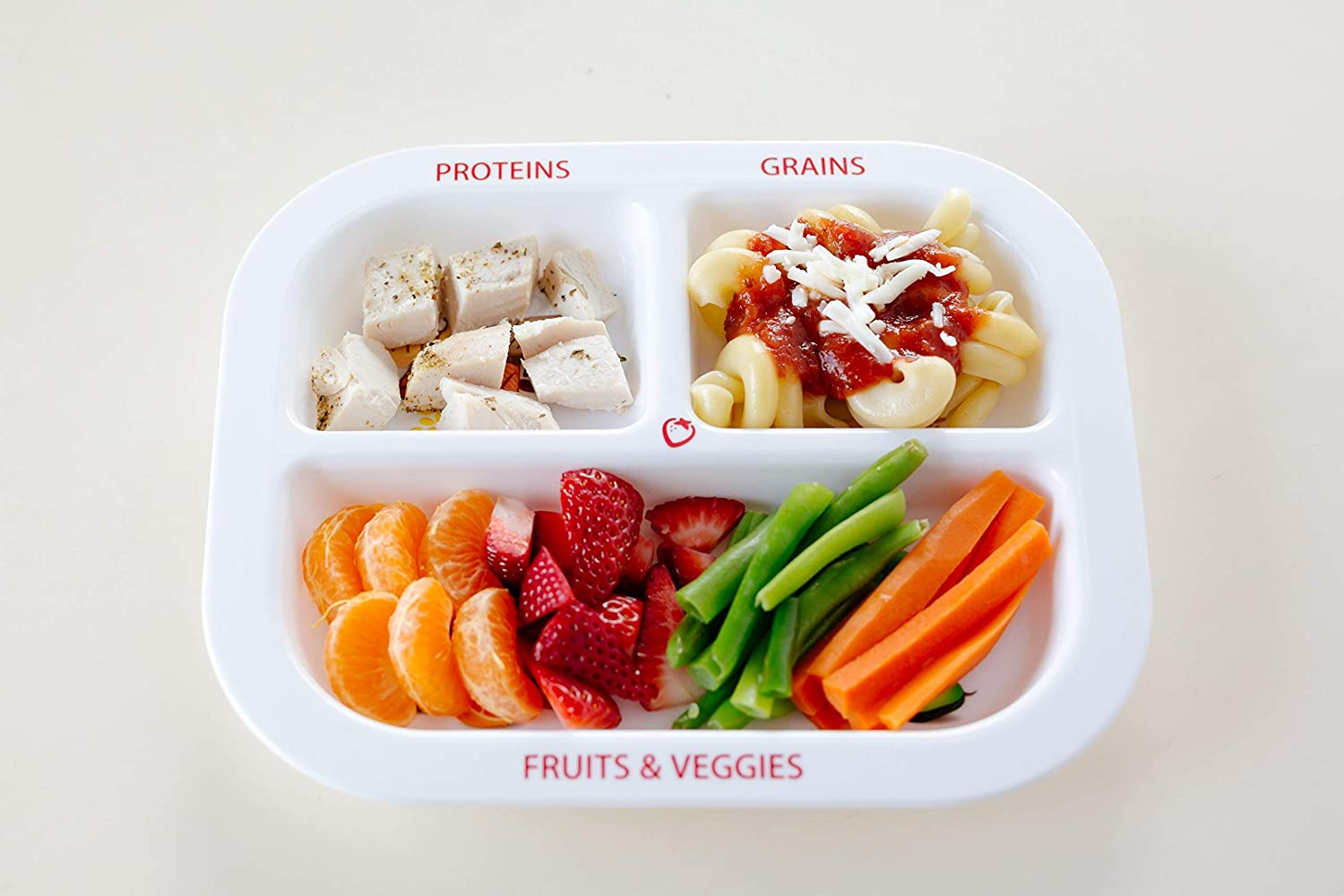 and Protein Healthy Habits Divided Kids Portion Plate Grains 3 Fun /& Balanced Sections for Picky Eaters: Fruits /& Veggies
