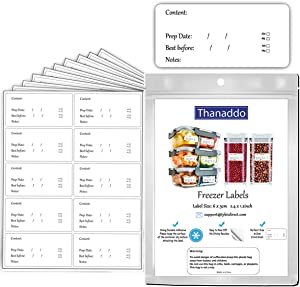 Removable Freezer Labels Food Storage Labels Easy Peel-Off Sticky Food Prep Label No Residue After Use Sticker 2.4 × 1.2 Inches 100 Pack