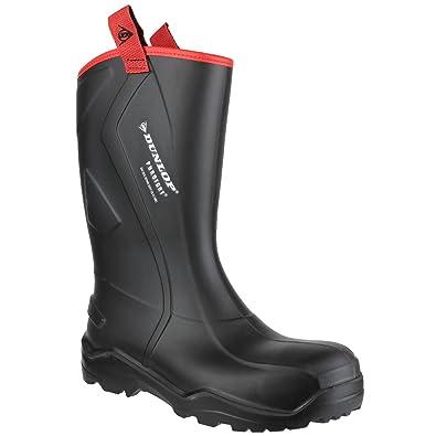 c6886656344d Dunlop Mens Purofort+ Rugged Full Safety Wellington Boots (39 EUR) (Black)