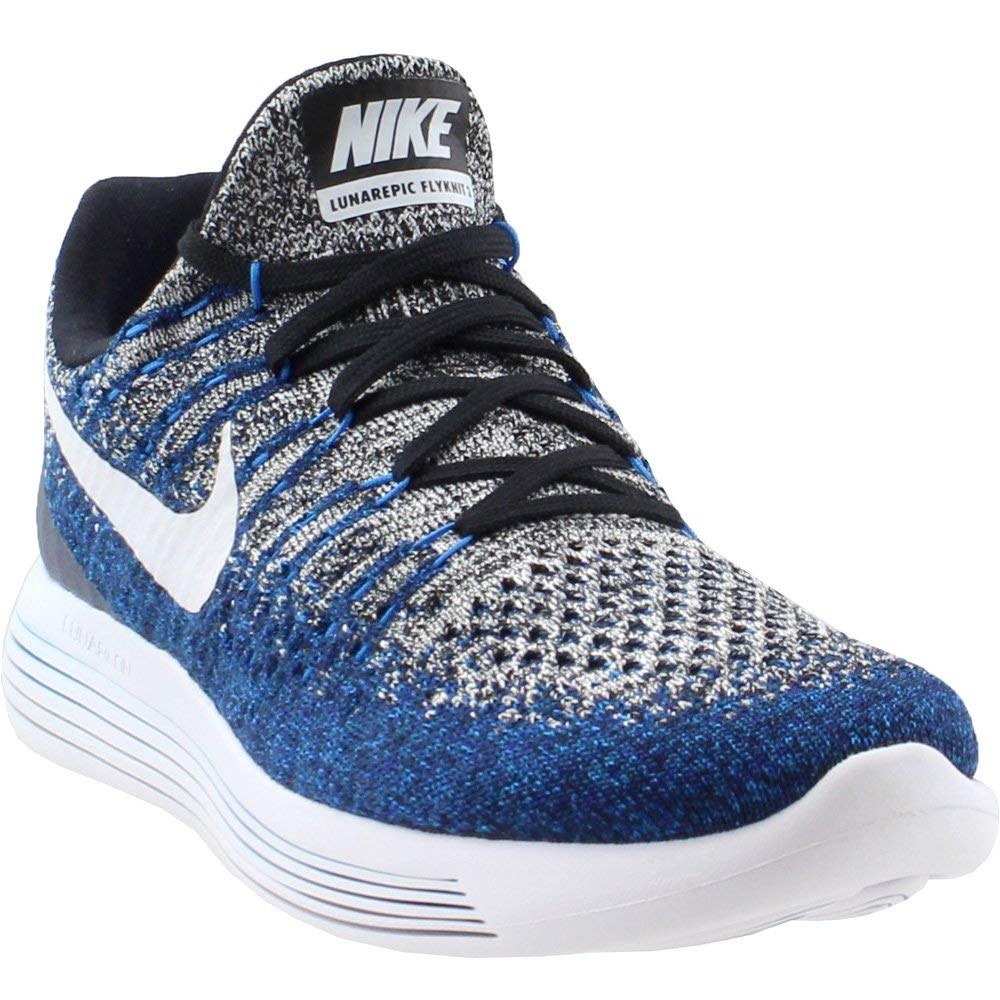 buy popular a9345 f57ac Galleon - NIKE Mens Lunarepic Low Flyknit 2 Running Shoes (12.5 D(M) US,  Black/Dark Grey/Racer Blue)