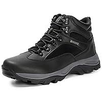 Men's Hiking Boots Shoes Waterproof Mid Low Top Boot Shoe Shock-Absorbing EVA Casual Outdoor Lightweight