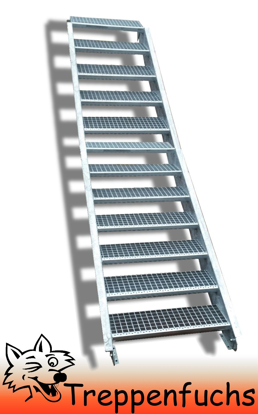12 Stufen / 100cm breit / Höhe 180 - 240cm