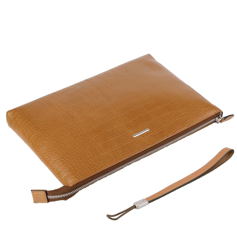 Banuce Sleeves Case for iPad and 11 Laptop Bag Leather Clutch Purse Shoulder Messenger Bag
